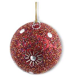 Asha Handicrafts Red Beaded Ornament