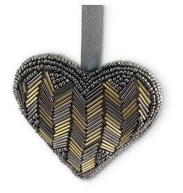 Asha Handicrafts Satin Heart Ornament