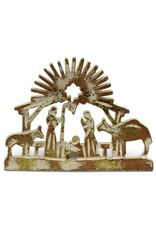 Asha Handicrafts Standing Wooden Nativity Cutout