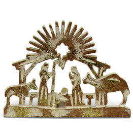 Asha Handicrafts Standing Wooden Nativity Cutout