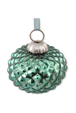Sasha Association for Crafts Producers Turquoise Glass Ornament