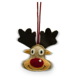 Craft Resource Center Felt Moose Ornament