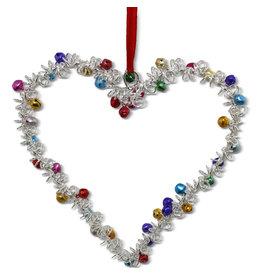 Noah's Ark Heart Ornament with Bells