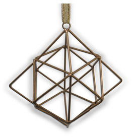 Noah's Ark Geometric Square Ornament