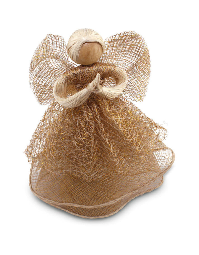 Community Crafts Association of the Philippines Gold Abaca Sinamay Angel (Large)