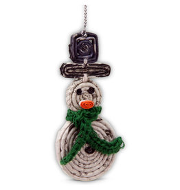 Women's Multipurpose Cooperative Black Hat Snowman Ornament