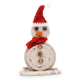 Women's Multipurpose Cooperative Red Hat Snowman