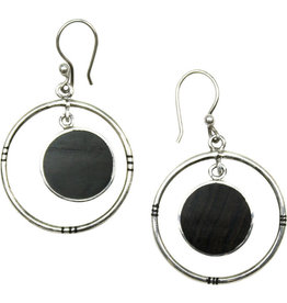 Union of Peasants for Self Development Dark Moon Ebony Earrings
