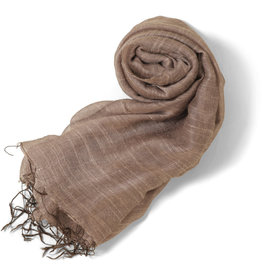 Craft Link Taupe Silk Scarf