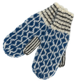 Kumbeshwar Technical School Circle Motif Wool Mittens