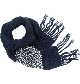 Kumbeshwar Technical School Navy Diamond Scarf