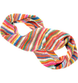Kumbeshwar Technical School Striped Wool Infinity Scarf