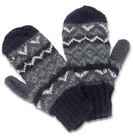 Kumbeshwar Technical School Slate Wool Mittens