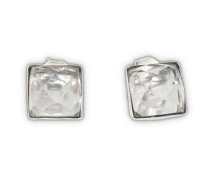 Allpa Crystal Quartz Studs