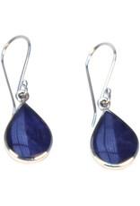 Allpa Sodalite And Silver Teardrop Earrings
