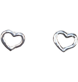 Allpa Outlined Hearts Sterling Silver Earrings