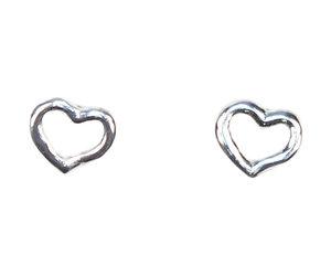 Allpa Outlined Hearts Sterling Silver Earrings