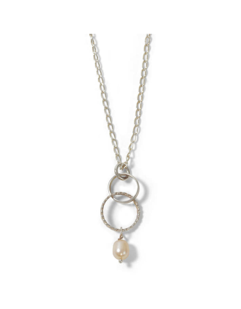 Allpa Sterling Silver Pink Pearl Necklace