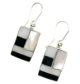 Intercrafts Peru Geometry Class Silver Earrings