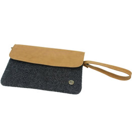 Sapia Faux Leather Clutch