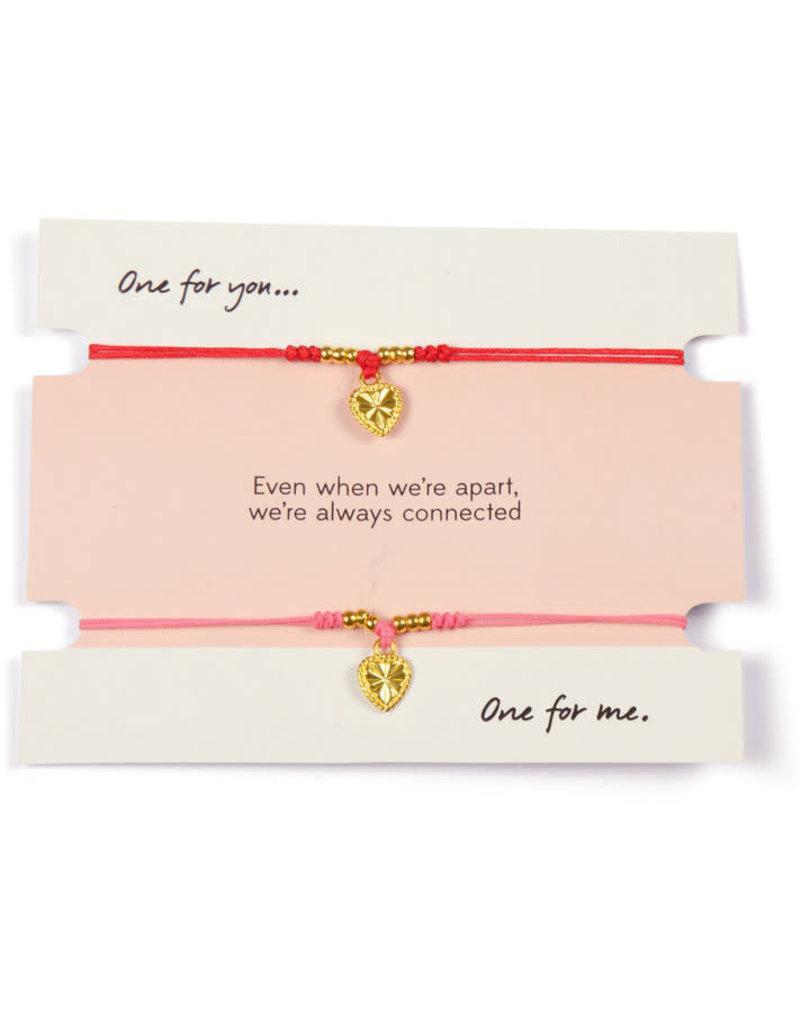 Sapia Heart bracelet built for two