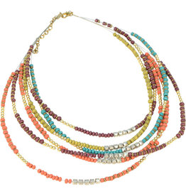 Asha Handicrafts Treasure Trove Beaded Necklace