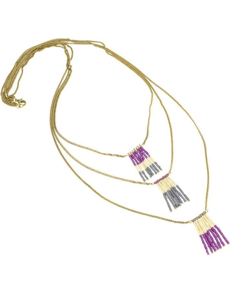 Asha Handicrafts Tiers of Beads Necklace