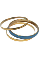 Asha Handicrafts Brass Bangles Trio
