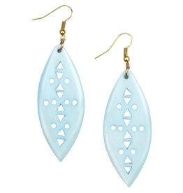 Asha Handicrafts Celeste Jali Bone Earrings