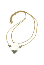 Asha Handicrafts Double V Bone Necklace