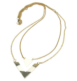 Asha Handicrafts Double V Bone Necklace