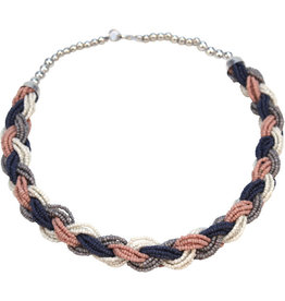 Asha Handicrafts Perfect Pastels Braided Necklace