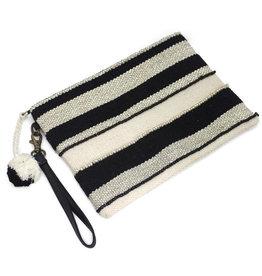 Asha Handicrafts Striped Wristlet Clutch