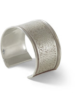 Asha Handicrafts Silver Embossed Bangle