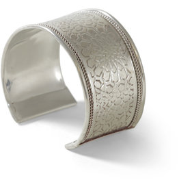 Asha Handicrafts Silver Embossed Bangle