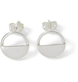 Asha Handicrafts Half-moon Stud Earrings