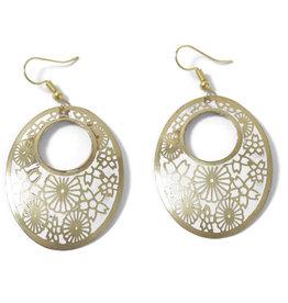 Asha Handicrafts Floral Embossed Earrings
