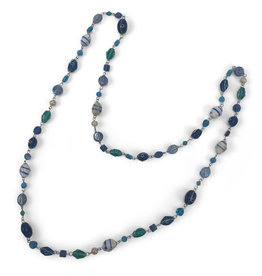 Asha Handicrafts Ocean Blue Beaded Necklace