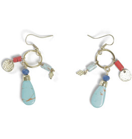 Asha Handicrafts Three Charm Earrings