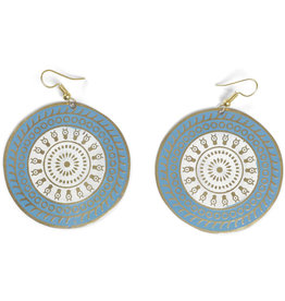 Asha Handicrafts Double Circle Drop Earrings