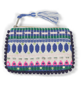 Asha Handicrafts Blue Dots Coin Purse