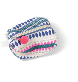 Asha Handicrafts Blue Dots Travel Case