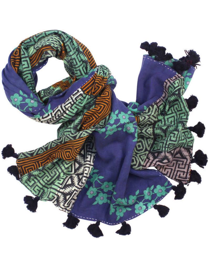 Sasha Association for Crafts Producers Sari Pompom Scarf