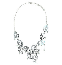Sasha Association for Crafts Producers Frosted Leaves Necklace