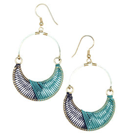 Sasha Association for Crafts Producers Wrapped Crescent Earrings
