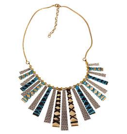 Sasha Association for Crafts Producers Threaded Sunburst Necklace