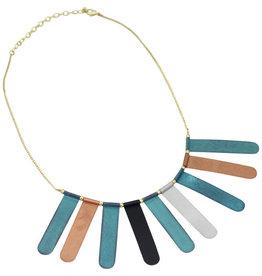 Sasha Association for Crafts Producers Sunburst Patina Necklace