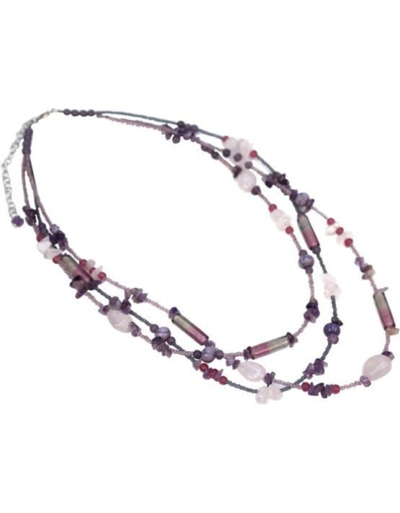 Sasha Association for Crafts Producers Multi-Strand Glass Bead Necklace
