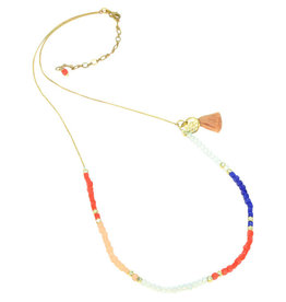 Sasha Association for Crafts Producers Fiesta Bead Extra Long Necklace