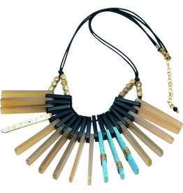 Sasha Association for Crafts Producers Rectangular Posts Necklace